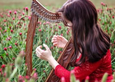 Harfa na svatbu photo by Marcelka Vodrážková